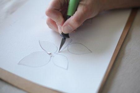 الرسم على القماش