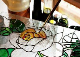 الرسم على الزجاج بالخطوات